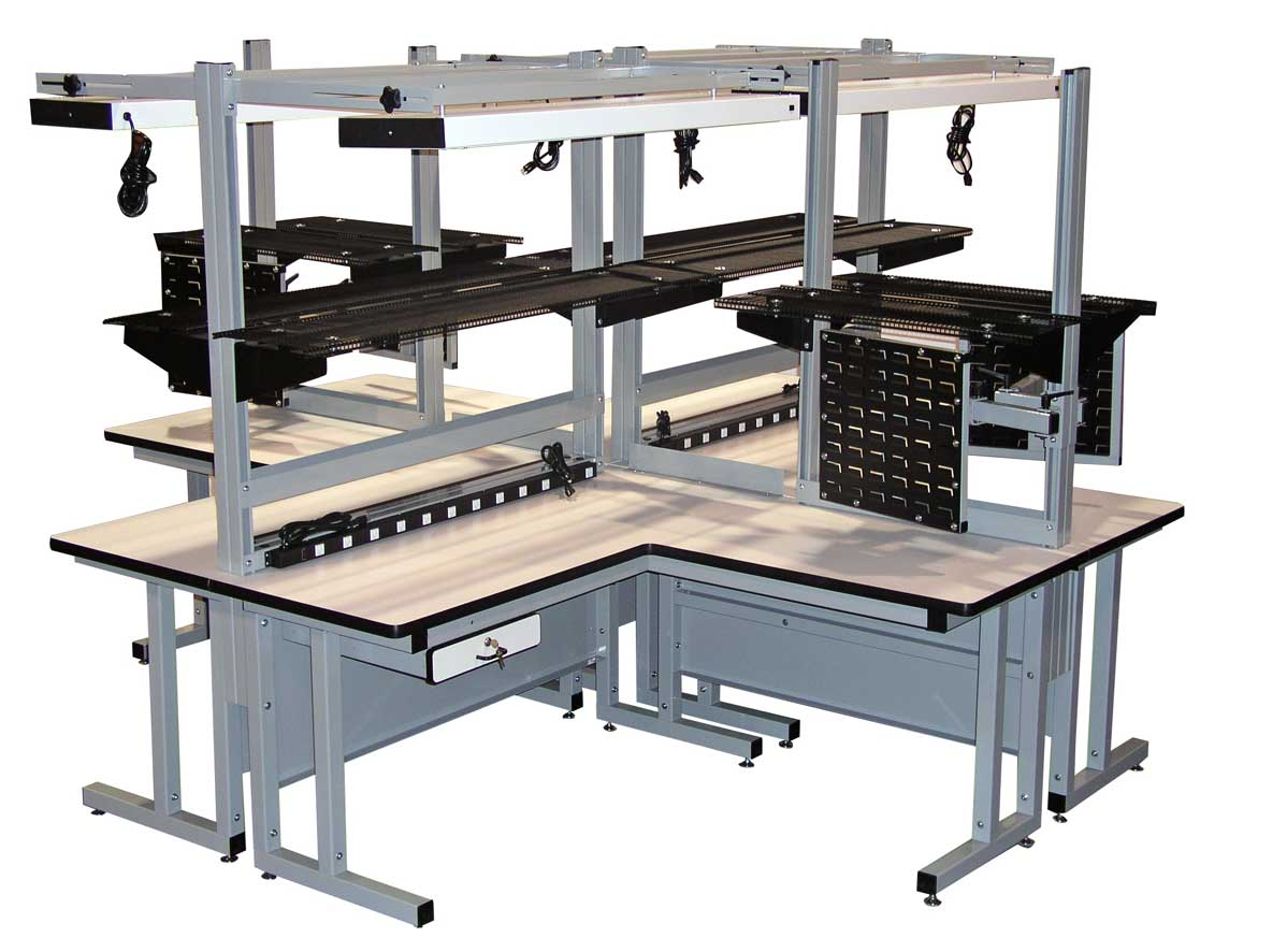 Model CHD Quad Ergonomic Workbench - Pro-Line Series - Pro-Line Workbenches and Lab Furniture