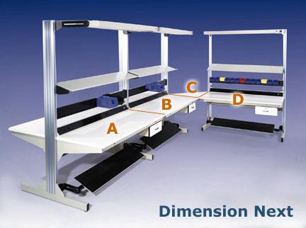 dimension next expandable modular workbenches pro line series